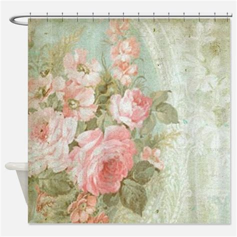 vintage fabric shower curtains vintage floral shower curtains vintage floral fabric