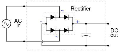 circuit rectifier ac dc rectifier filter circuit discrete semiconductor circuits electronics textbook