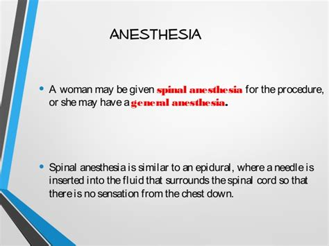 general anesthesia for c section cesarean section cs