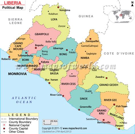 africa map liberia political map of liberia counties http