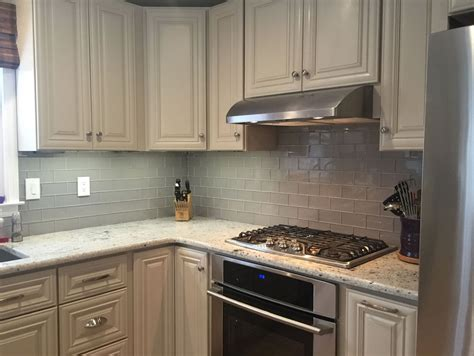 subway tile in kitchen backsplash gray glass tile kitchen backsplash home design ideas