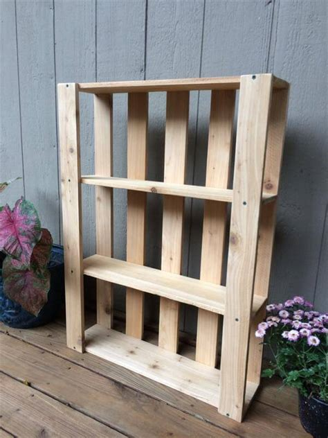 diy pallet wall hanging shelves pallet furniture diy