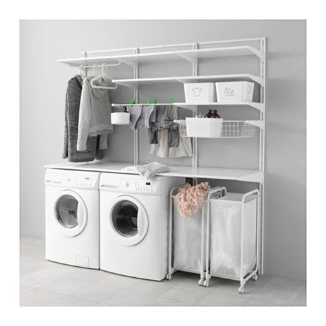 Upright Clothes Dryer Algot Wall Upright Shelves Drying Rack Ikea