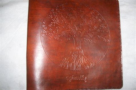 buy  hand crafted custom leather photo albumscrapbook