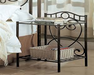 Mango Wood Nightstand Bedside Table Metal Crystal Bedside Table Lamps Vintage