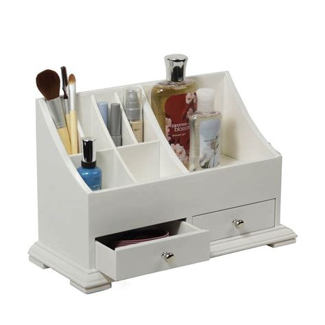 bathroom vanity organizers wooden makeup organizer get organized pinterest wooden makeup organizer bathroom vanity