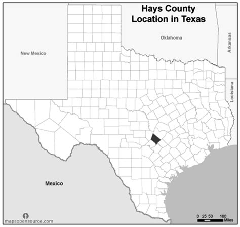 hays county map texas free and open source location map of hays county texas grayscale mapsopensource