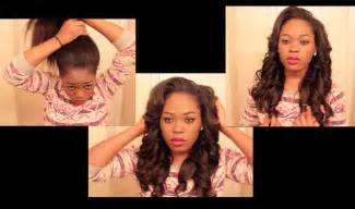 do you to leave alot of hair out for versatile sew in versatile natural looking sew in you can put in a high