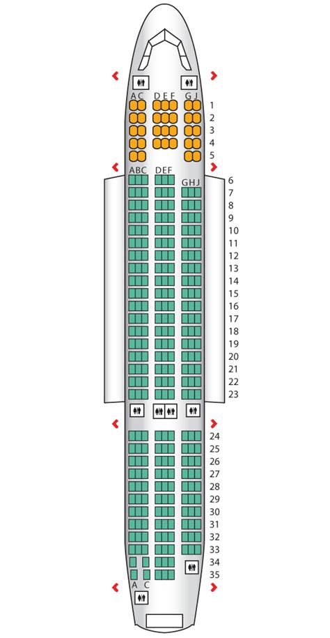 seat map dreamliner 787 seating chart seatguru seat map
