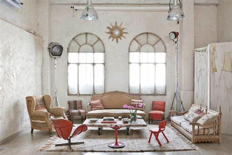 bohemian loft apartments  madrid homemydesign