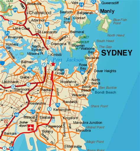 a map of sydney australia the half chronicles october 2012