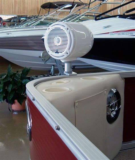 earmark inc marine speakers pontoon boat - Boat Speakers Mounting