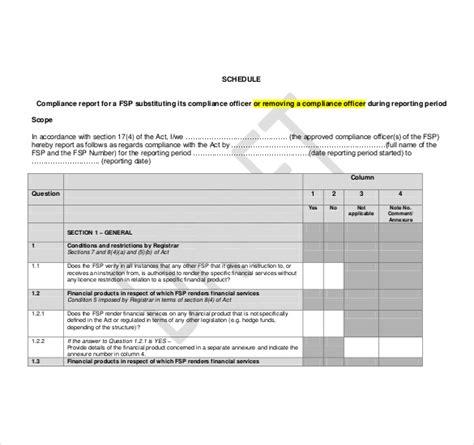 compliance report template work handover letter format work handover format