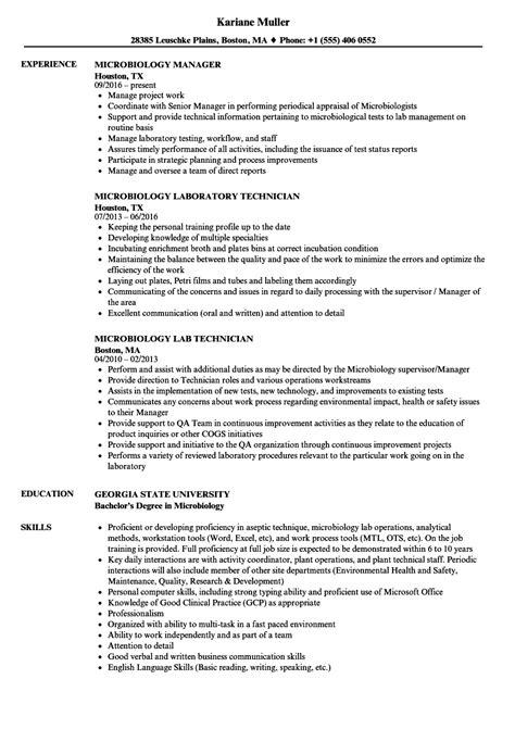 microbiology resume sles microbiology resume sles velvet