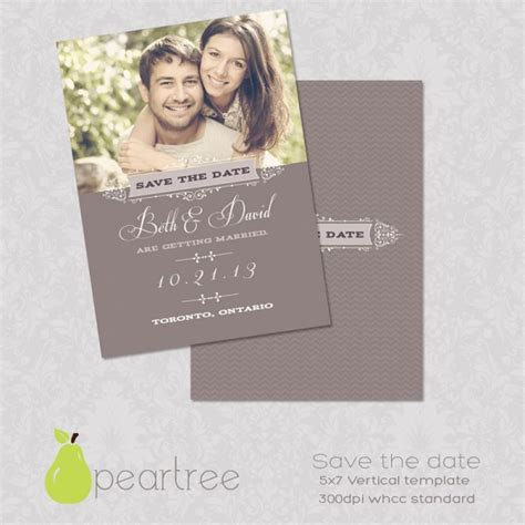 5x7in Save The Date Psd Template 106 Print Invitations Luvly Save The Date Invitation Templates Free