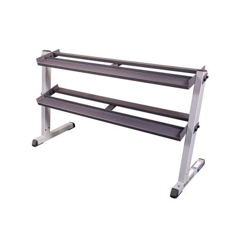 Dumbell Rack solid gdr60 2 tier horizontal dumbbell