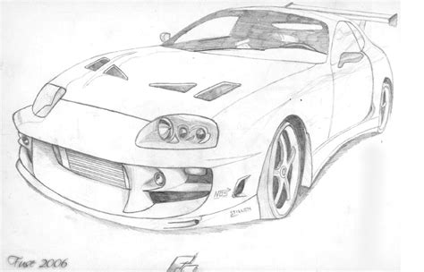 Toyota Supra Drawing Toyota Supra Ff By Fuseest On Deviantart