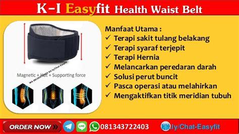 Ramuan Syaraf Terjepit Easyfit Waist Belt 1 wa 081343722403 k i easyfit waist belt k link