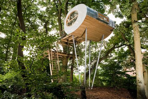 Treehouse For Backyard by Backyard Escape Elliptical Pod Tree House Modern House