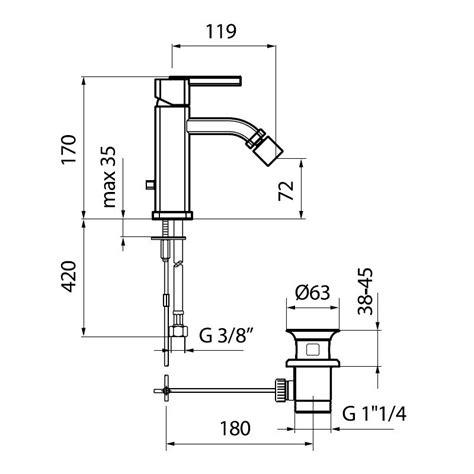 Bidet Dimensions by Az840101 Bidet Mixer Dimensions Bacera
