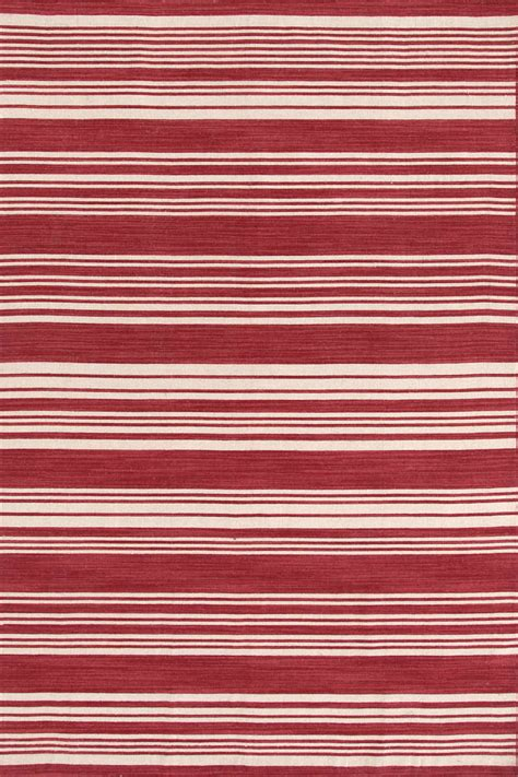 striped rugs dash albert cottage stripe crimson