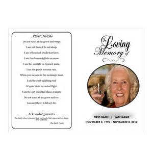 in loving memory templates in loving memory funeral phlets