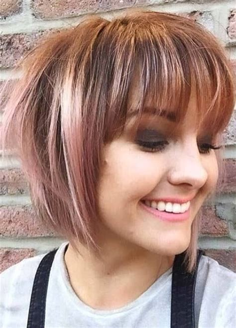 bob hairstyles without bangs best 25 short haircuts with bangs ideas on pinterest