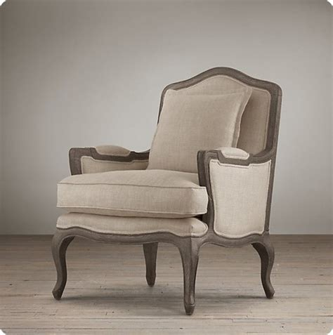 Restoration Hardware Chair by Reupholstered Chairs With Weathered Gray Frame