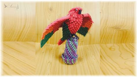 3d origami parrot tutorial youtube origami how to make 3d origami parrot youtube