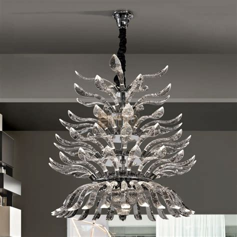 lustres suspension magnifique lustre suspension design moderne cristal palmeira