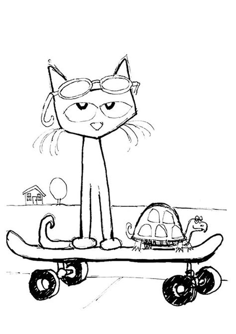 coloring page of pete the cat print coloring image coloring pages cats and the o jays