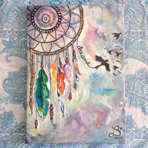 paint dream best 25 dream catcher painting ideas on pinterest dream catcher canvas black canvas art and