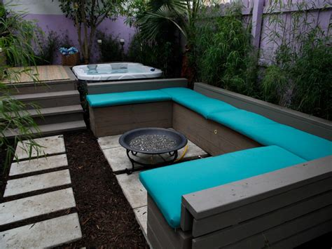 covered benches built in tub shells tub patio