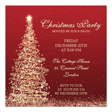 christmas invitation template 11 download in psd