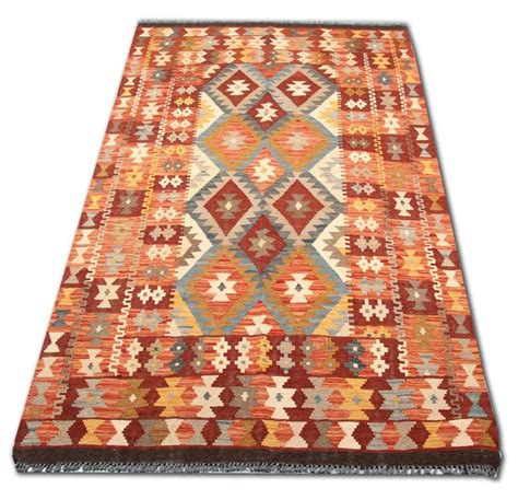 afghan kilim rug with traditional motifs for sale at 1stdibs