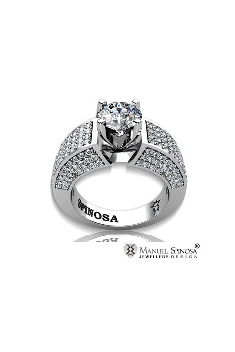 modern style solitaire engagement ring with and