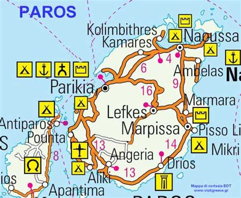tipologie di lade mappa di paros cartina di paros