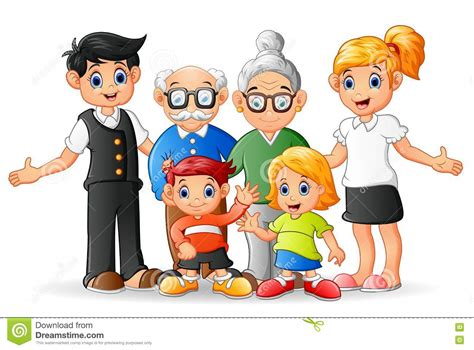 Famille Heureuse De Dessin Anim 233 Illustration De Vecteur