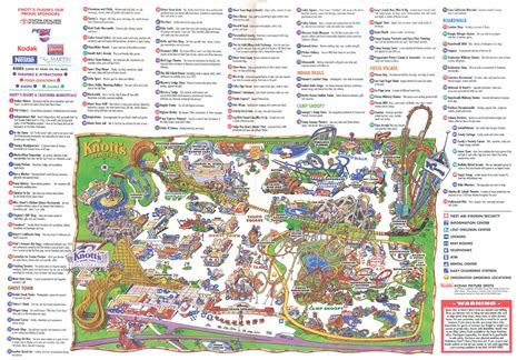 knotts berry farm map theme park brochures knott s berry farm theme park brochures