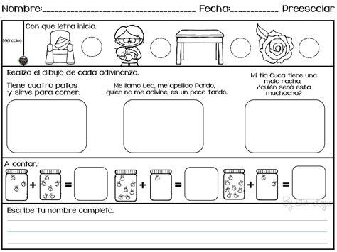 imagenes educativas para preescolar actividades para repasar en vacaciones preescolar 003