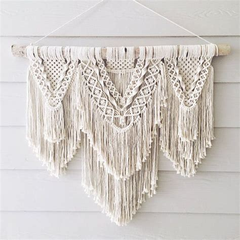 Macrame Wall Hanging Free Patterns - large macrame wall hanging by wovenwhale on