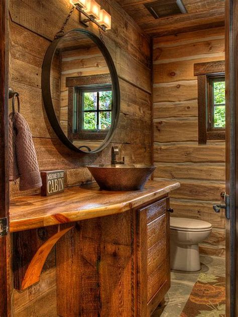 cabin bathroom ideas pictures remodel and decor