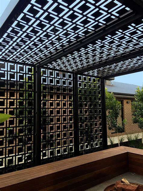 pergola privacy screens decorative privacy screen pergola using qaq s babylon