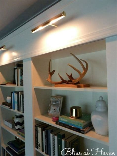 Library Bookcase Lighting Picture Lights 35 Living Room Pinterest