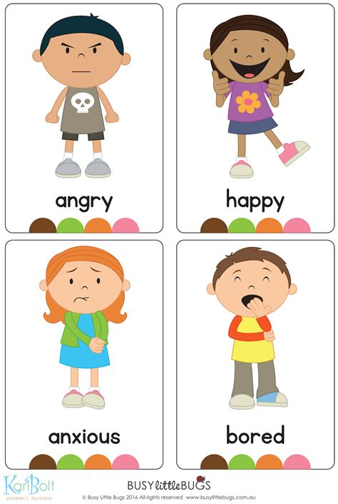 printable emotion flashcards for toddlers emotions full body flash cards automatic download