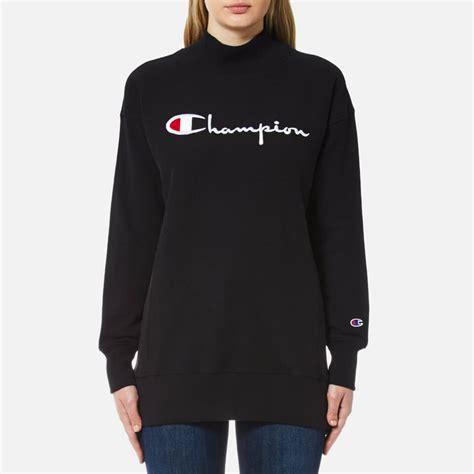 Hoodie Polos Salsabila Cloth chion s polo neck sweatshirt black womens clothing thehut