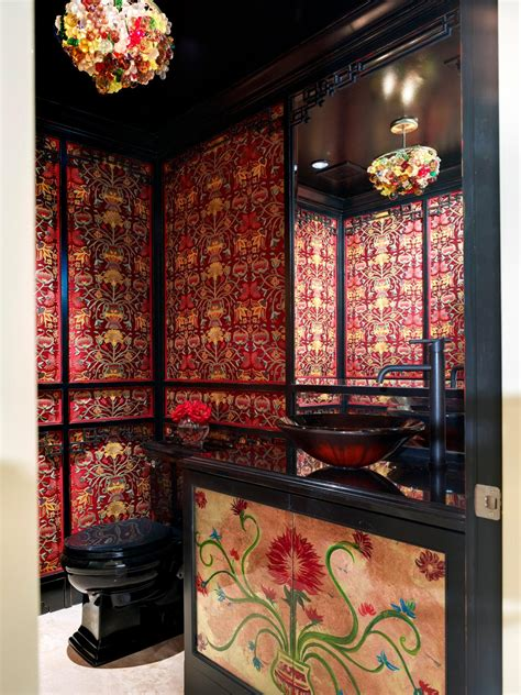 Ornate Vanity Mirror Tropical Bathroom Decor Pictures Ideas Amp Tips From Hgtv
