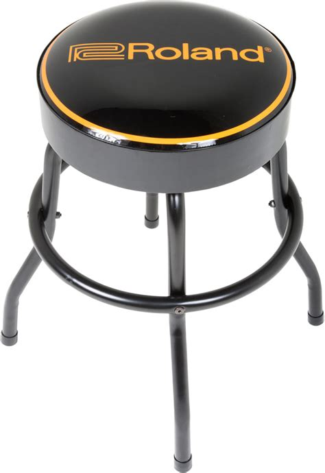 Guitar Stool 24 by Roland Logo 30 Quot Bar Stool With Swivel Top Black