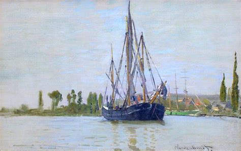 boat basin defined the sailing boat 1871 claude monet wikiart org