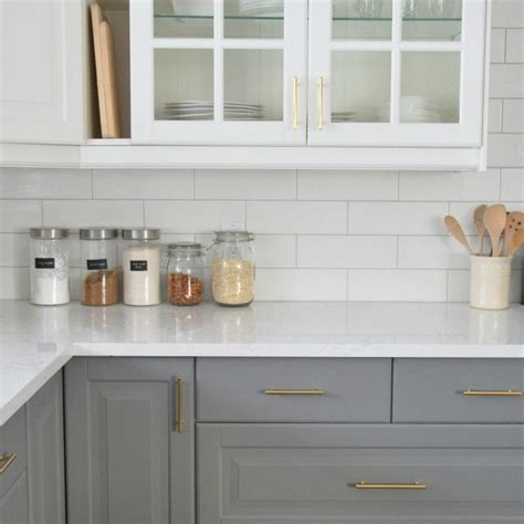 installing a subway tile backsplash in our kitchen the